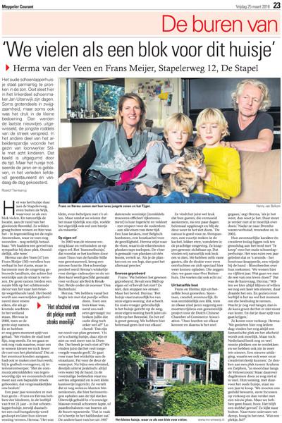 Interview Meppeler Courant